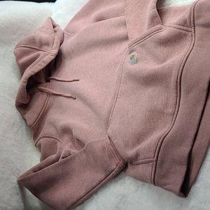 Carhartt hooded sweatshirt dusty rose